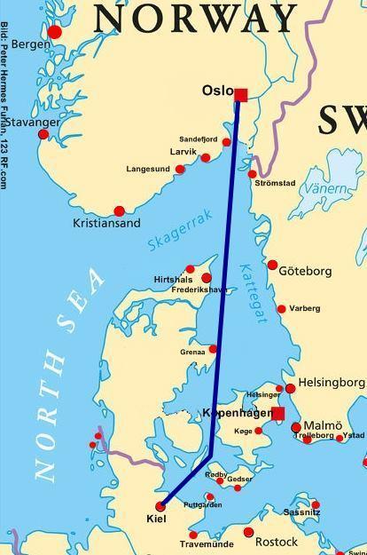 norwegen faehre kiel oslo