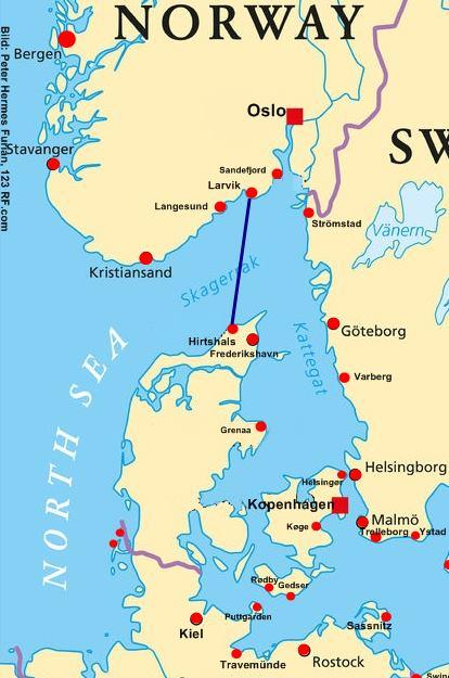 Norwegen Faehre Hirtshals-Larvik