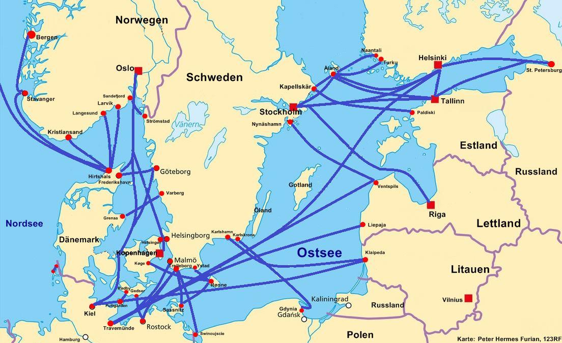 Fähre Skandinavien
