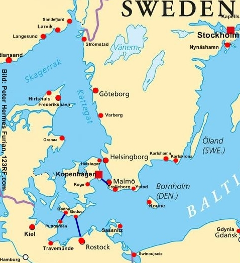 Karte Schweden Dänemark Deutschland.öresundbrücke Nach Schweden Günstiges Kombi Ticket 2019