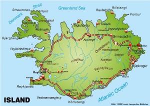 Island Karte Orte