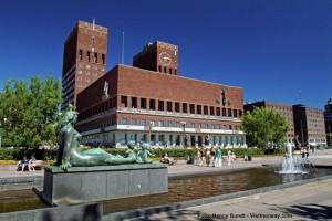 Städtereise Oslo Rathaus