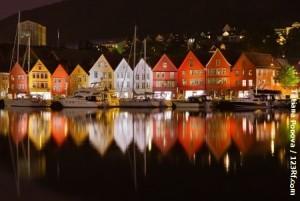 Bergen-bei-Nacht
